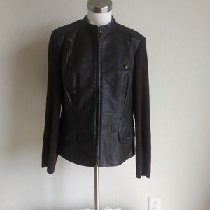 NYGARD women's jacket size L 14-16 brown leather a